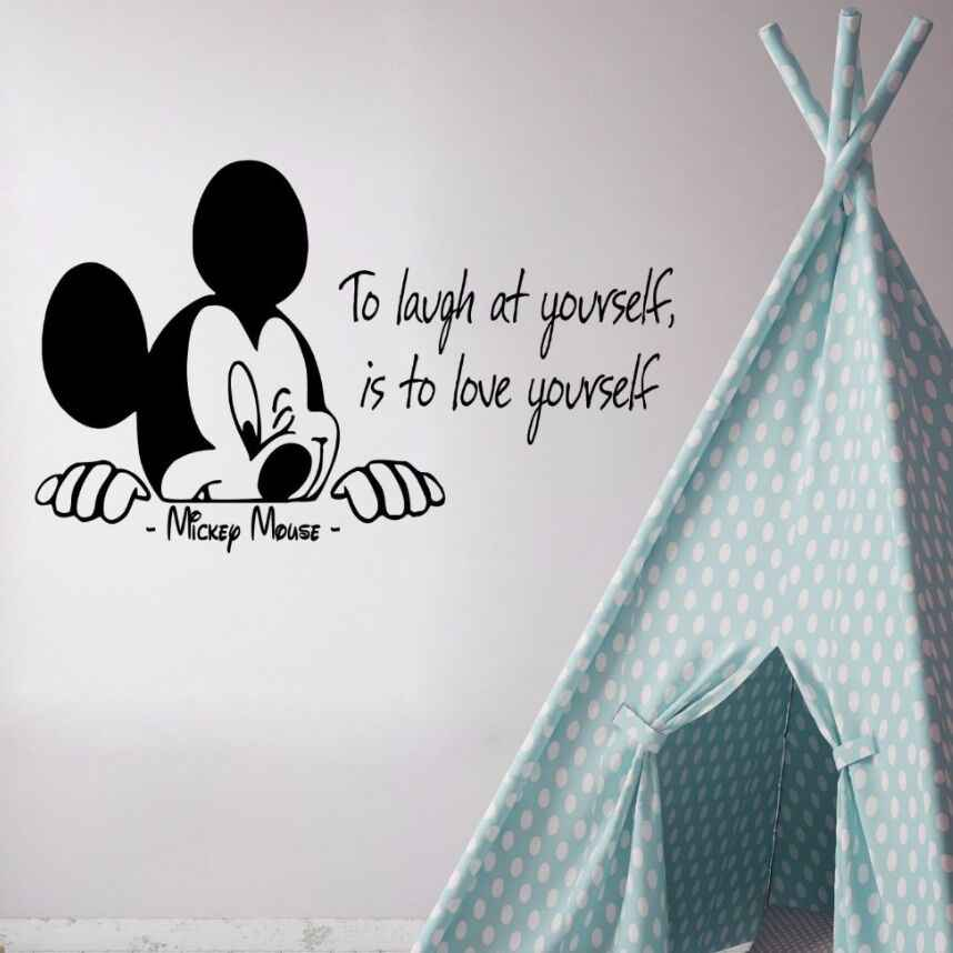Detail Feedback Questions About Mickey Mouse Wall Decal Quote To