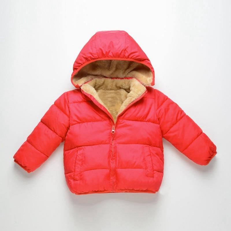COOTELILI Fleece Winter Parkas Kids Jackets For Girls Boys Warm Thick Velvet Children's Coat Baby Outerwear Infant Overcoat (4)