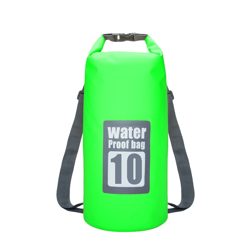 5L 10L Waterproof Dry Bag Outdoor Beach Double Shoulder Straps PVC Buckled Floating Storage Sack Travel Swim Boating Rafting Bag