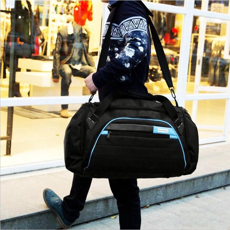 Купить с кэшбэком Black Training Bags Large Capacity Sport Bag Men For Gym Outdoor Travel Luggage Storage Bag Mens Fitness Single Shoulder Bag