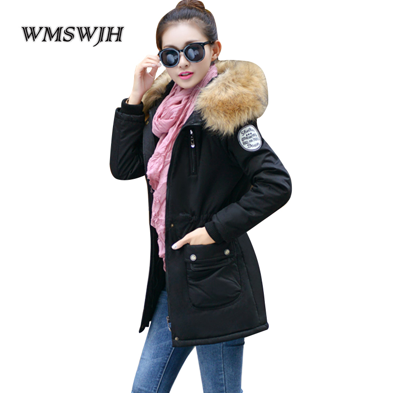 Russian Winter Thick Warm Parkas Women Jacket and Coats 4XL Military Style Winter Jacket Women Faux