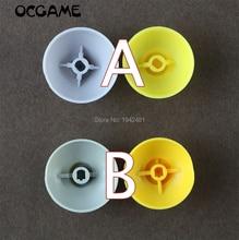 OCGAME 100pcs=50pairs left right Joystick Cap for Gamecube for ngc Controller joystick cap Gray(Left)+yellow(right)