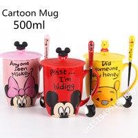 Mới đến Phim Hoạt Hình Mug Đáng Yêu Mickey Cup 500 ml Sữa Sáng Tạo ly Các Cặp Vợ Chồng Cốc Cốc Cà Phê Cốc Nước Minnie Dễ Thương Đẹp Quà Tặng Drinkware