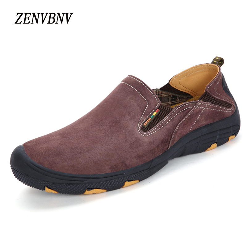ZENVBNV 2017 New Slip On Casual Men Loafers Spring And Autumn Mens Moccasins Shoes Genuine Leather Men's Flats Pigskin Shoes dxkzmcm new men flats cow genuine leather slip on casual shoes men loafers moccasins sapatos men oxfords