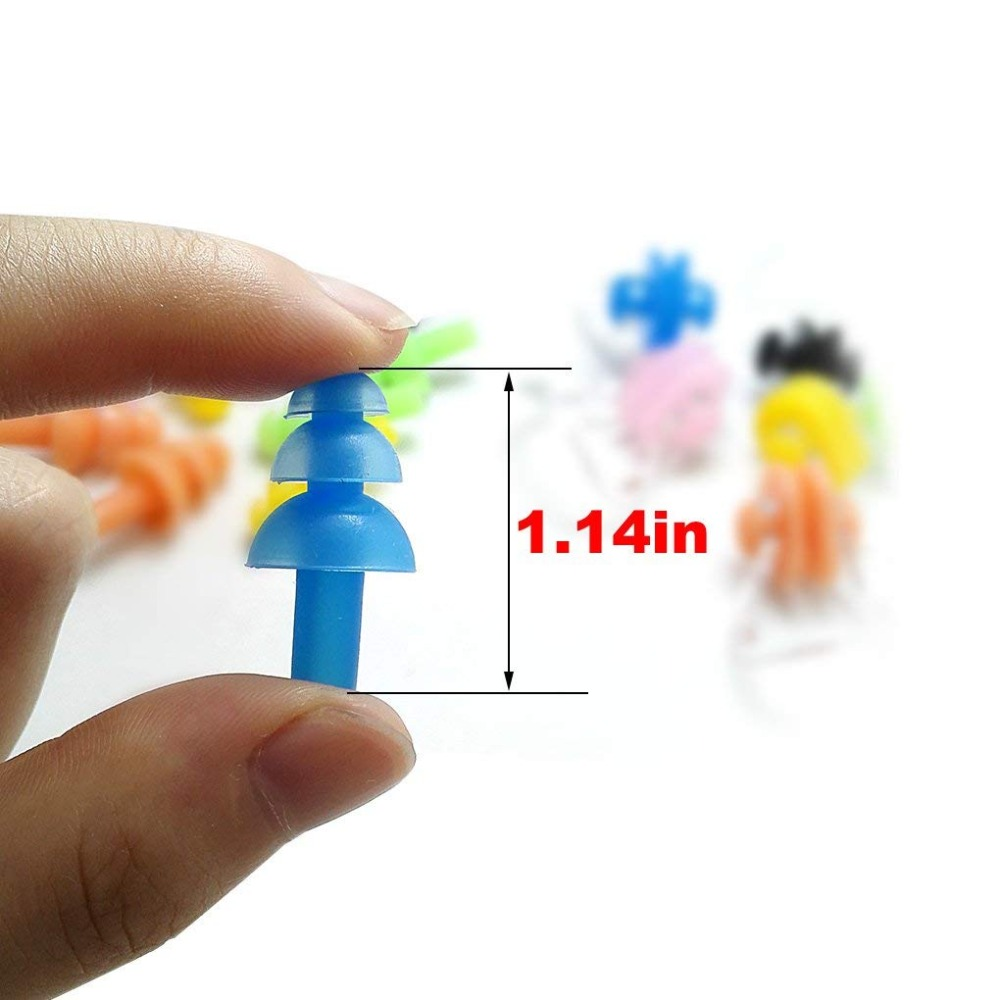 1 Pair Nose Clip Soft Ear Plugs Environmental Silicone Waterproof Dust-Proof Earplugs Diving Water Sports Swimming Accessories