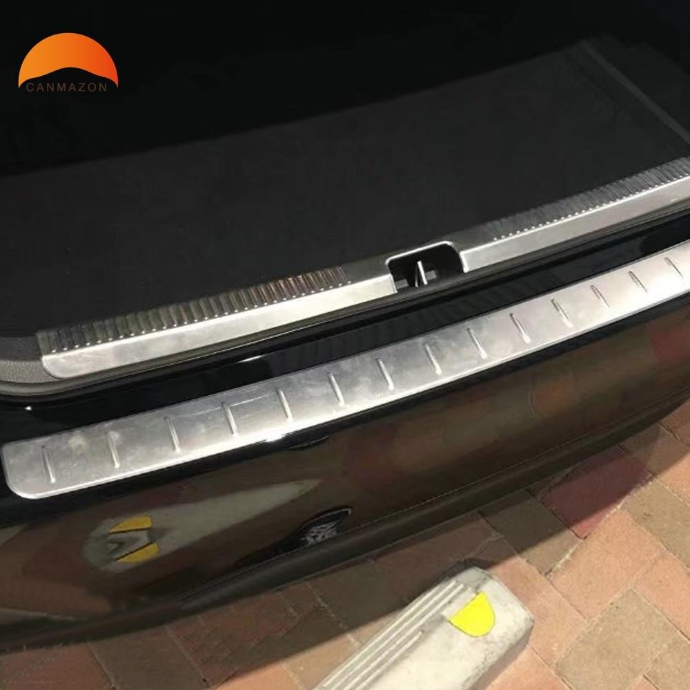 Для Toyota Camry xv70 2017 2018 2019 Сталь внутренний + внешний задний бампер защитник отделка автомобиль арьергарды ствол гвардии подоконник плиты Scuff