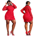 Top Sexy Summer Women Rompers Fashion Playsuits Bodysuits Long Sleeved O Neck Casual Red Loose Jumpsuits