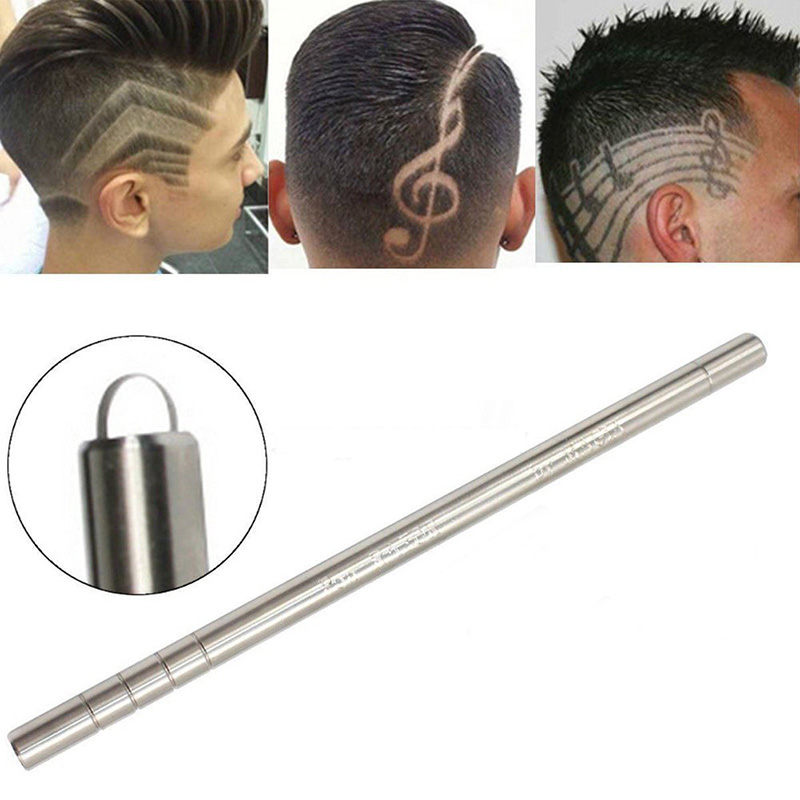 MISS ROSE 1 PC Fashion Stainless Steel Blades Hair Styling Eyebrows Beards Trimmers Salon DIY Engraved Pen With 10pcs Blades