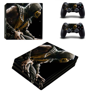 Image 4 - Game Mortal Kombat PS4 Pro Skin Sticker Decal for PlayStation 4 Console and 2 Controllers PS4 Pro Skin Sticker Vinyl