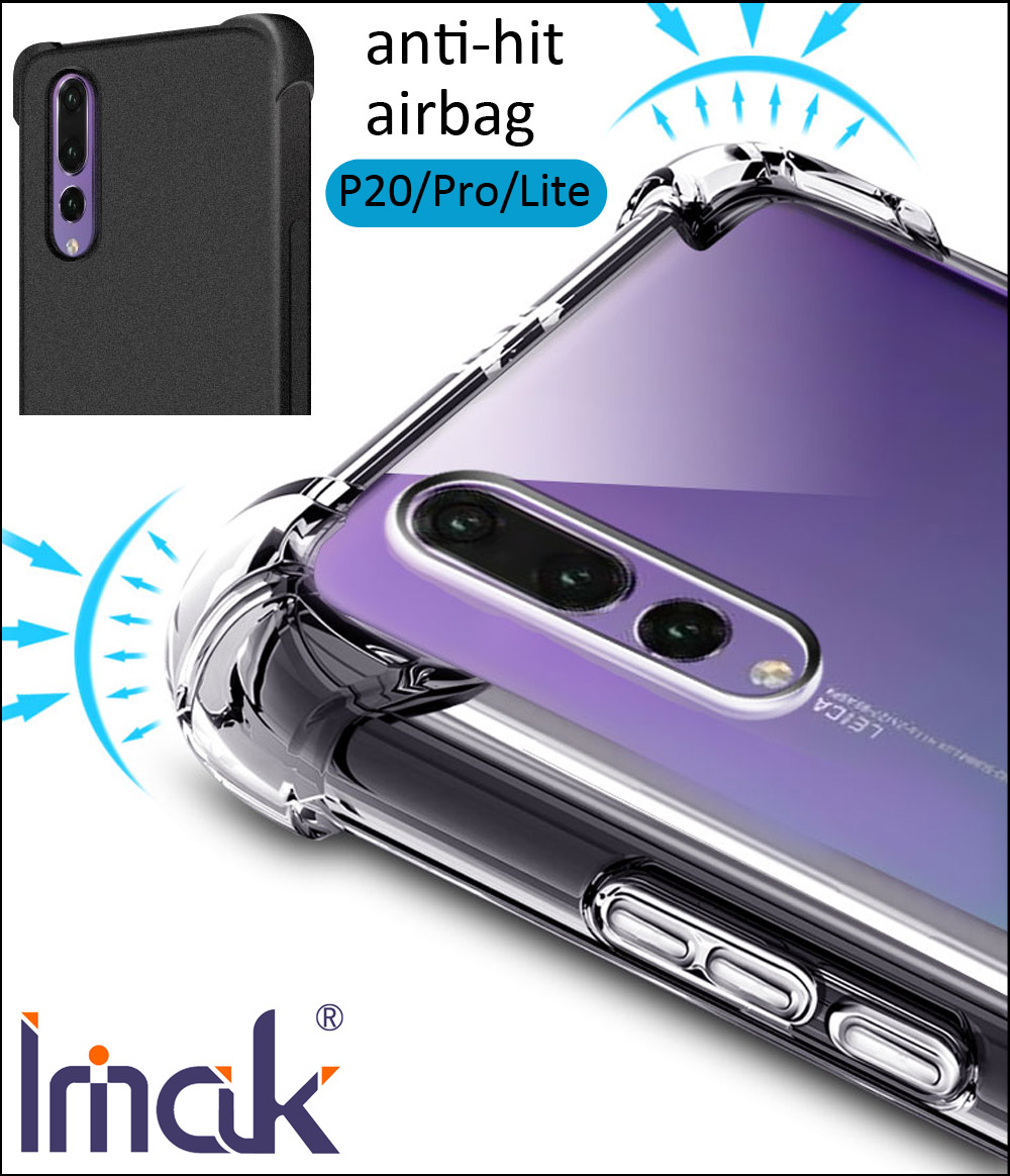IMAK Airbag Case For Huawei P20 Pro Lite Drop resistance anti hit Shock Soft TPU Silicone Cover Nova 3e