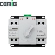ATS 2 P двойной выключатель питания автоматический переключатель передачи Cemig SMGQ1-63M/2 P Автоматический выключатель MCB AC 230 V 16A 32A 40A 63A