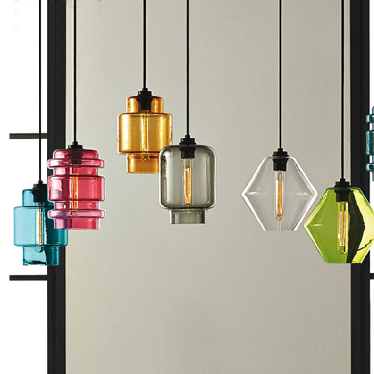 Vintage Pendant Light Loft Glass Hanging Lamp For Kitchen Dining Room Home Lighting luminaria retro industrial Pendant Lamp