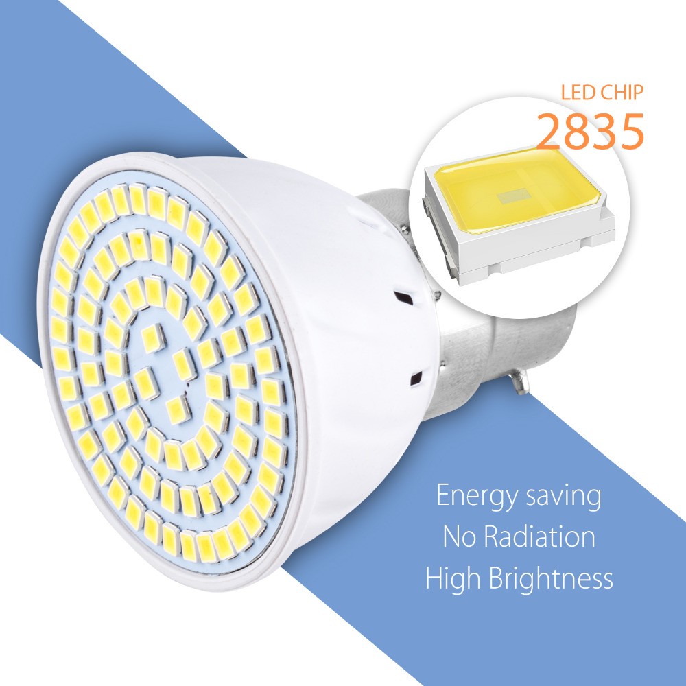 E27 Led Light E14 Lamp Corn Bulb GU10 Spotlight Bulb 220V MR16 Lampada Led 2835 SMD Bombillas 48 60 80leds Lighting For Home B22 in LED Bulbs Tubes from Lights Lighting