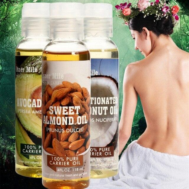 % 100% Saf Doğal Masaj Spa Badem Avokado Hindistan Cevizi uçucu yağ Soğuk Preslenmiş Nemlendirici Hint Yağı Nemlendirici Saç Bakımı