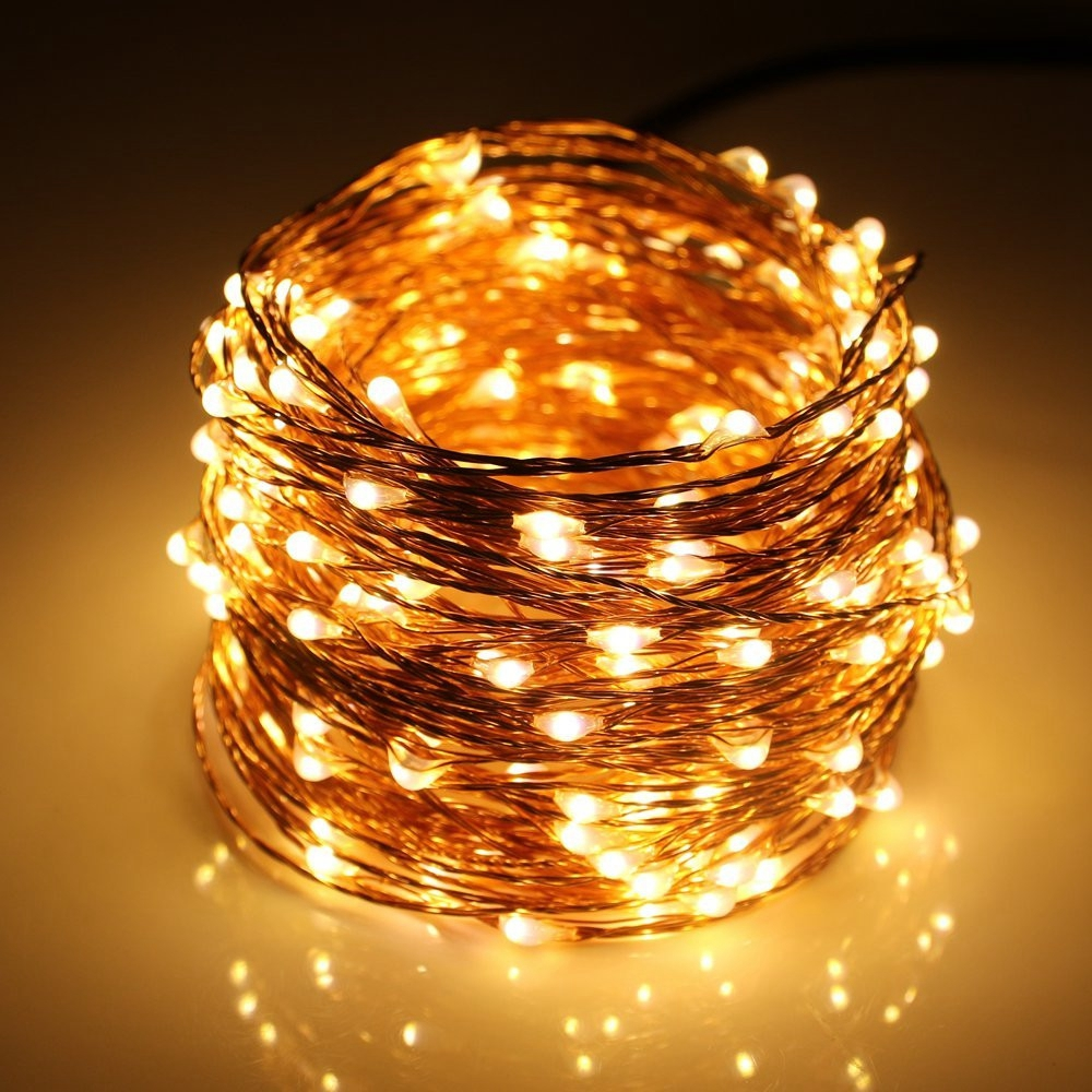 DC12V Led String Light 50M 30M 20M 10M 5M Waterproof Outdoor Copper - Pencahayaan perayaan - Foto 4