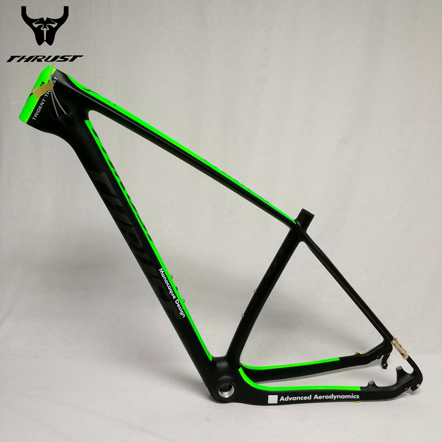 купить THRUST mtb Carbon Frame 29er Mountain Bike 15 17 19 inch Carbon Bike Frame 29 Bicycle Frame Red Yellow Green Blue White Black дешево
