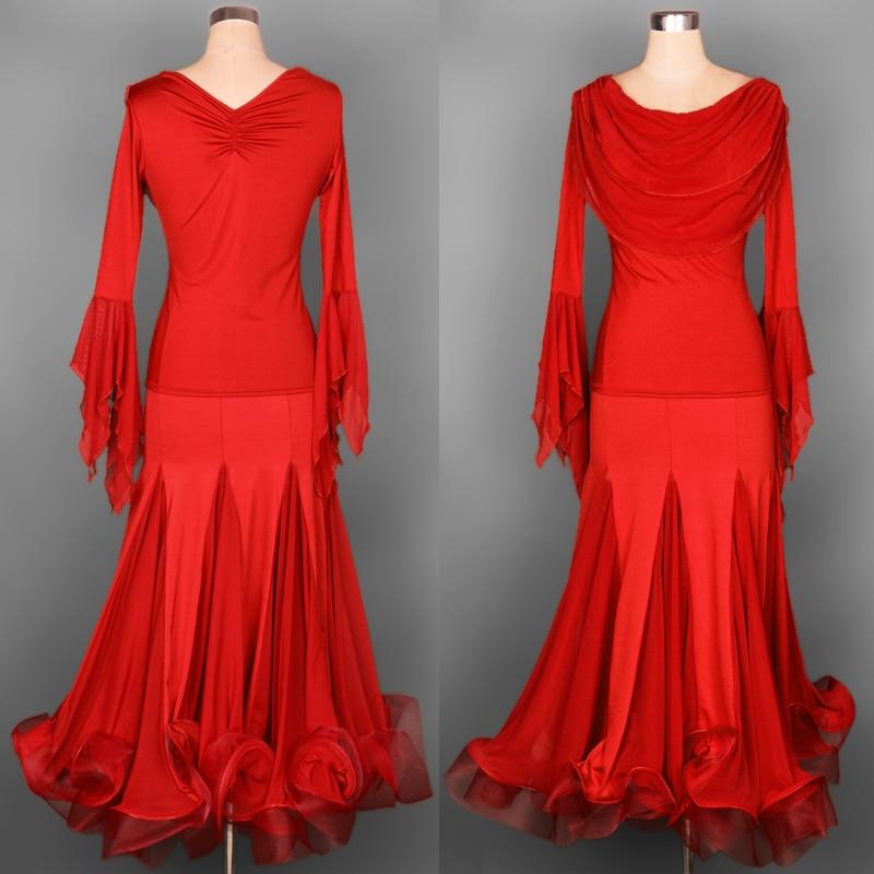 blue red purple black customize custom foxtrot dance dresses ballroom dancing ballroom rumba dresses ballroom waltz set