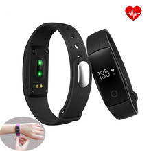 Fitness tracker smart bracelet Watch heart rate monitor Activity Step Counter Call Reminder Bluetooth wristband for Android IOS