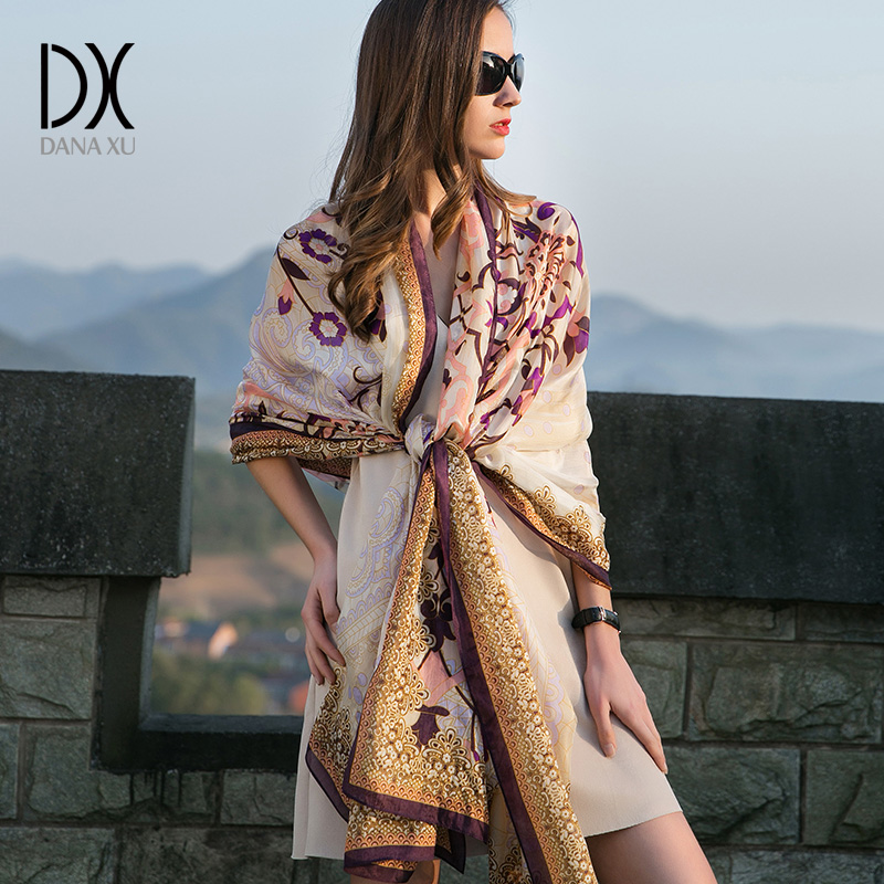 Chiffon Silk Bandana Scarf Women Fashion Designer Brand Scarf Winter Shawls And Scarves Sjaal Cachecol Echarpes Foulards Femme
