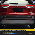 Für Toyota RAV4 2019 Auto Styling Hinten Tür Stamm Dekoration Abdeckung Trim Rahmen Aufkleber Außen Zubehör-in Autoaufkleber aus Kraftfahrzeuge und Motorräder bei
