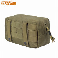 Airsoftsports 1000D Cordura Tactical Belt Pouch Utility EDC Bag With Molle System Waist Bag Pack For