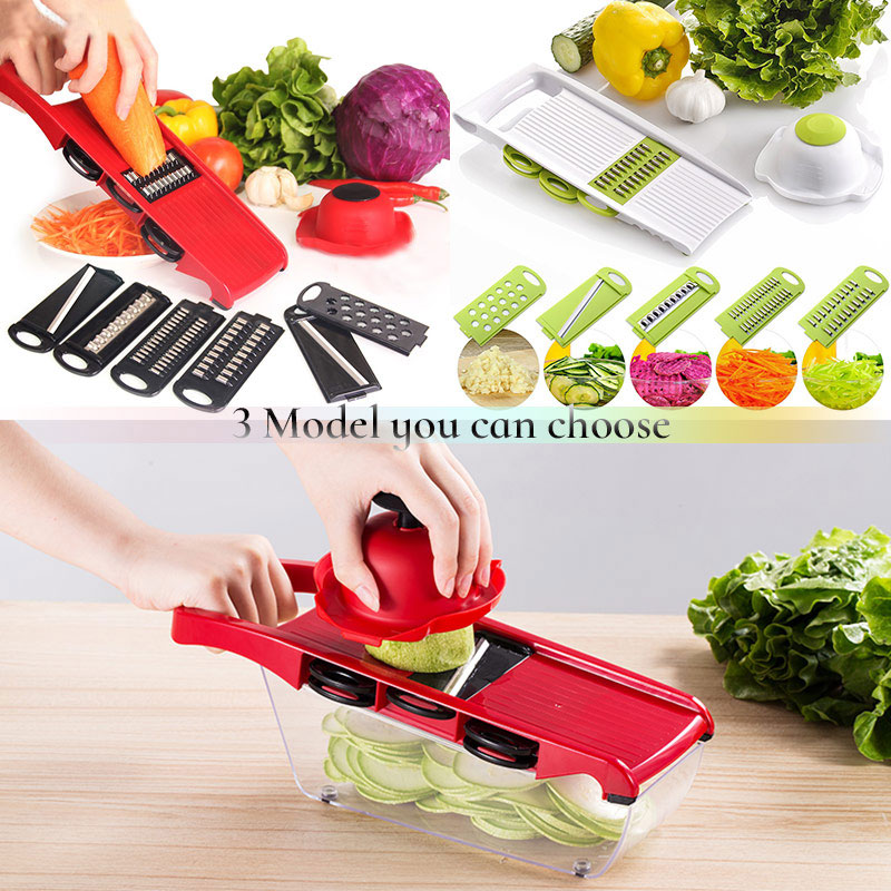 6-in-1 Mandoline Slicer and Vegetable/Fruits Cutter with Steel Blade as Kitchen Accessories 2