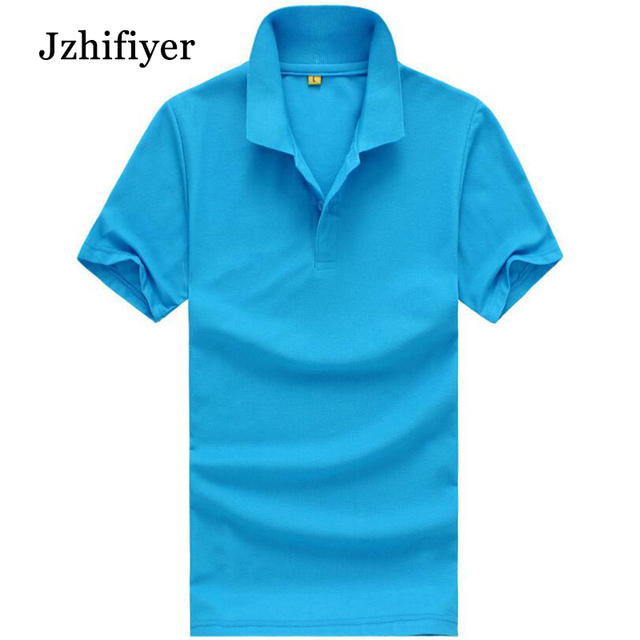 Jzhifiyer plain homme shirt blank polo shirts size M-3XL men's short-sleeve camisa shirt men camisa polo masculina grey rose
