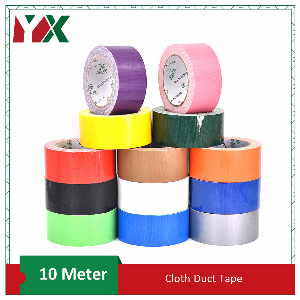 YX Color Cloth Base Tape Cloth Duct Tape Carpet Floor Waterproof  Tapes High Viscosity Adhesive Tape Multicolor Diy Decoration