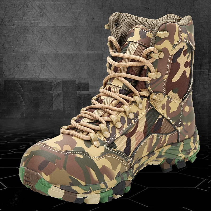 Men's Outdoor Desert Camouflage Boots Men Tactical Military Combat Shoes Man Trekking Hiking Short Boots Travel Climbing Shoes outdoor sport tactical combat men boots cp camo male desert botas hiking travel leather high military enthusiasts marine shoes