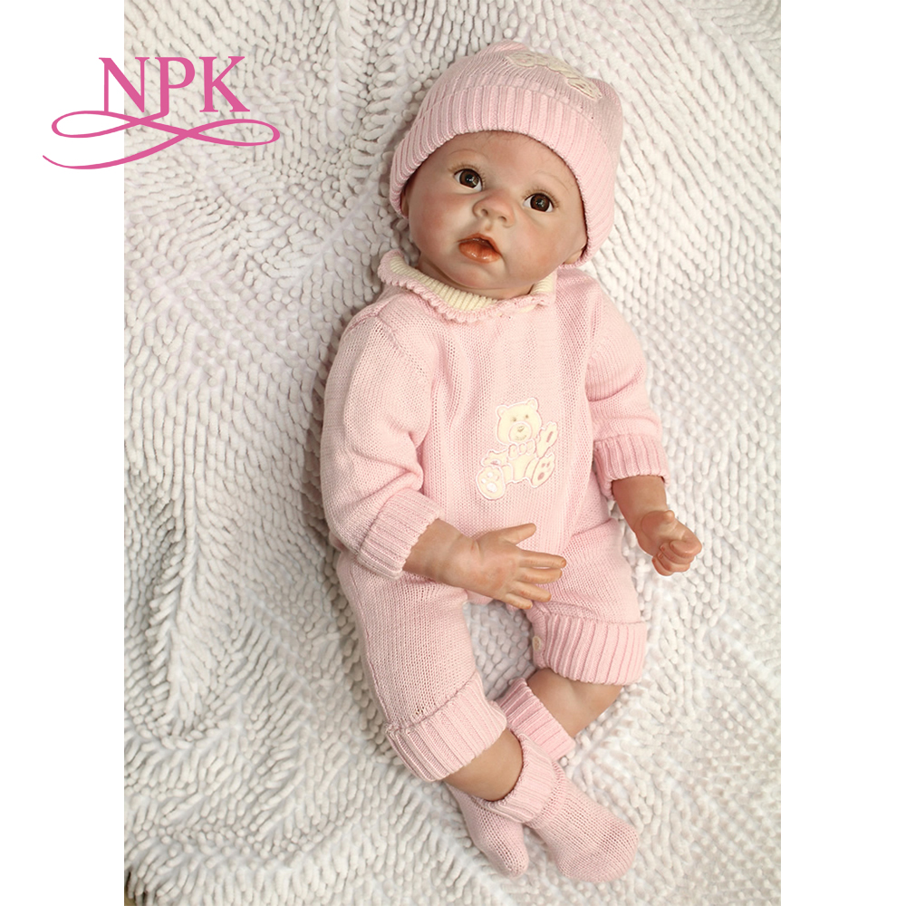 NPK Free Shipping 22 bebes Reborn Handmade Silicone Baby Boy Dolls Lifelike Bonecas Bebes Reborn toddler