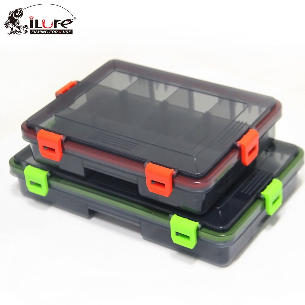 iLure 2017 New 23 18 5 28 18 5cm Compartments Fishing track Box Fishing Accessories Case