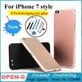 Для iPhone 5 5s 6 6 s 6 plus 6 splus Алюминий Металл Черный красочные Задняя крышка Корпуса Батареи Дверь Замена Крышки как 7 стиле