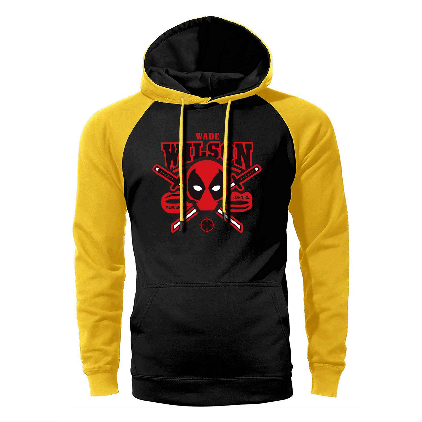 Super Hero Deadpool Hoodie Männer Raglan Hoodies Herren Lustige Sweatshirts 2019 Frühling Herbst Lose Streetwear Dead Pool Sportswear