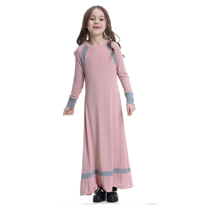 Dresses Muslim Arab Middle Eastern Dress Teen Girl Solid Dress Color Simple Women Dress Two-piece Suit Sukienki Damskie