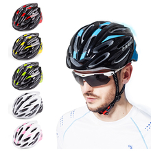 Integrally-molded Cycling Helmet Super Light Protector Adults Bicycle Accessories EPS PC Adjustable Multi Color Helmet 6colors