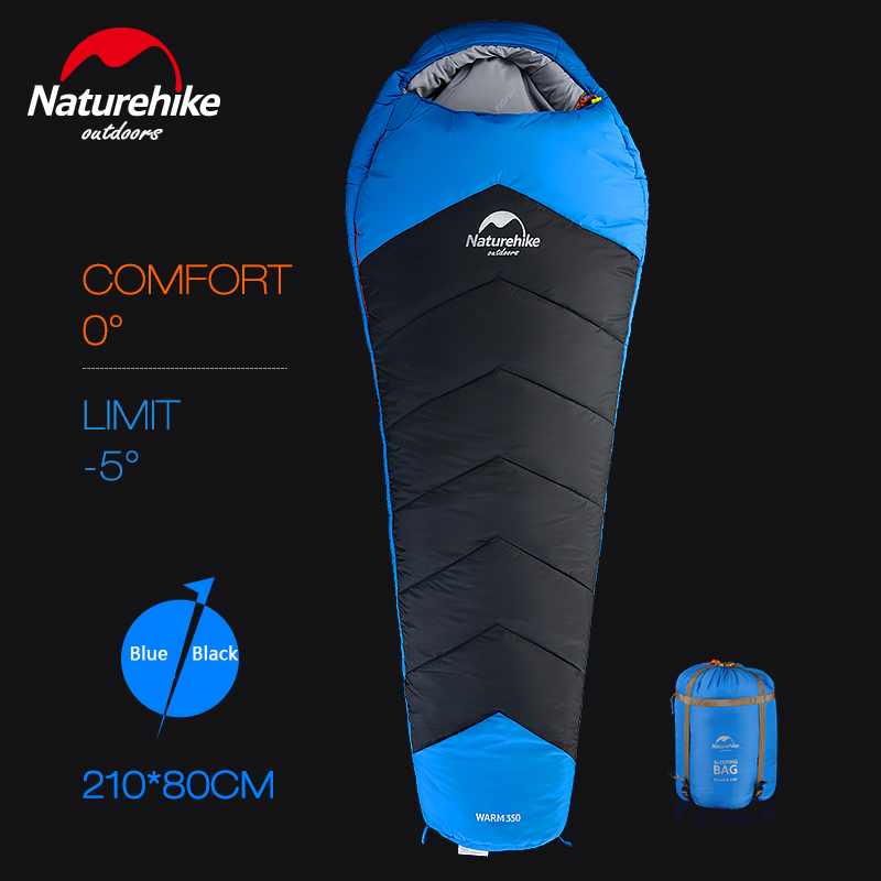 Naturehike Adult Outdoor Winter Thickening Sleeping Bag Camping Warm Catskill 350 Cotton Sleeping Bag NH17S350-D nh sleeping bag adult outdoor winter thermal winter thickening thermal autumn and winter cotton sleeping bags single double
