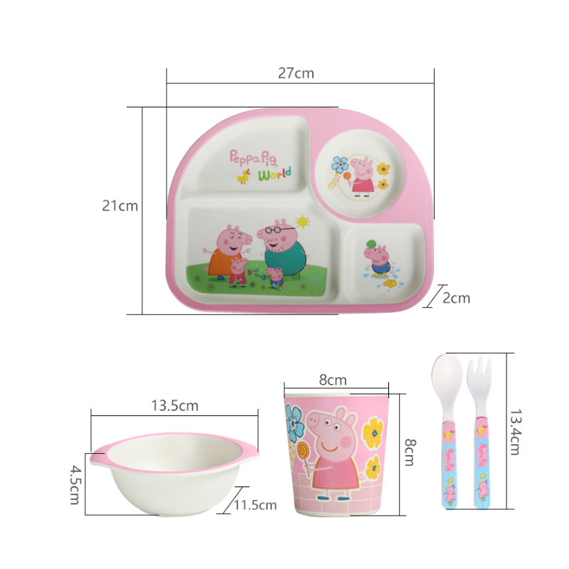 Portmeirion Peppa Pig Gee Pirate 3 Piece Set Bowl Plate Cup  sc 1 st  Plate & Peppa Pig Plastic Plate Set - Best Plate 2018