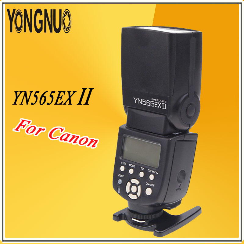 YONGNUO YN565EX II Wireless TTL Speedlite Flash Speedlight YN565EX II For Canon 5D Mark III II 6D 7D 70D 80D 650D 600D 700D 550D 3pcs yongnuo yn600ex rt auto ttl hss flash speedlite yn e3 rt controller for canon 5d3 5d2 7d mark ii 6d 70d 60d