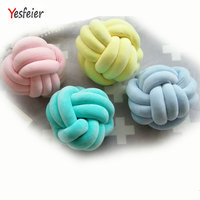 36*36CM Cute Stuffed Toys Baby Cushion Room Decor Girl Gifts Handmade Knot Cushion Knotted Ball Pillow Kids Bed Pillows