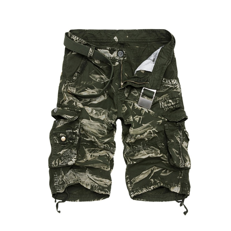 Summer Men Military Army Combat Trousers Tactical Camo Camouflage Male Shorts 29-38