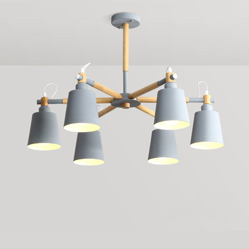 Nordic Chandelier Macaron Hanging Ceiling Lamp Modern Chandelier E27 bulb Hanging Lamp for Living Dining Room Bedroom Home Decor modern e27 led bulb lotus shape chandelier pendant ceiling lamp shade hanging light lampshade diy home living room bedroom decor