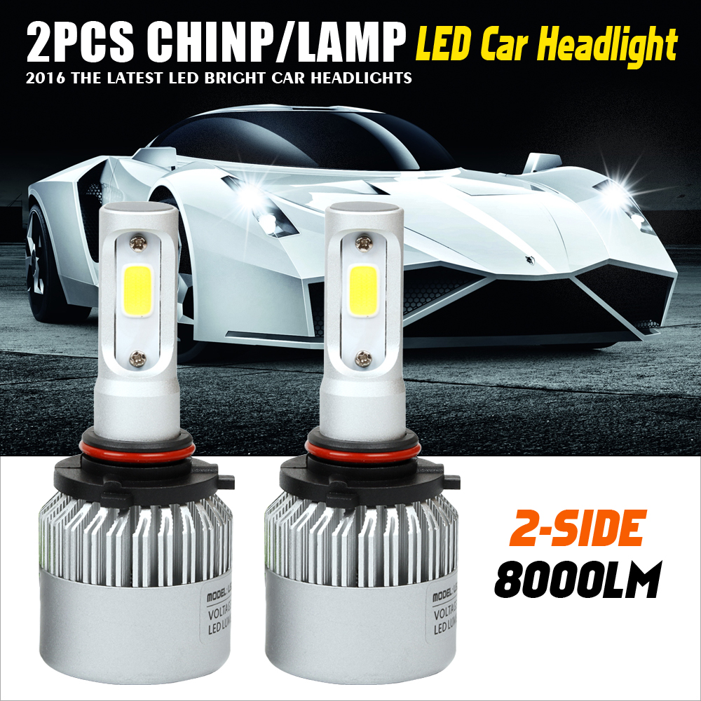 9005/9006 72W Car LED Headlight Bulb HB3/HB4 6500K 8000lm COB Auto Fog Light Headlamp for Toyota/Renault/VW/Hyundai/Kia  1pair h8 h9 h11 car led headlight bulb cob 72w 8000lm car led fog lights auto led headlamp bulbs for vw hyundai toyota kia honda