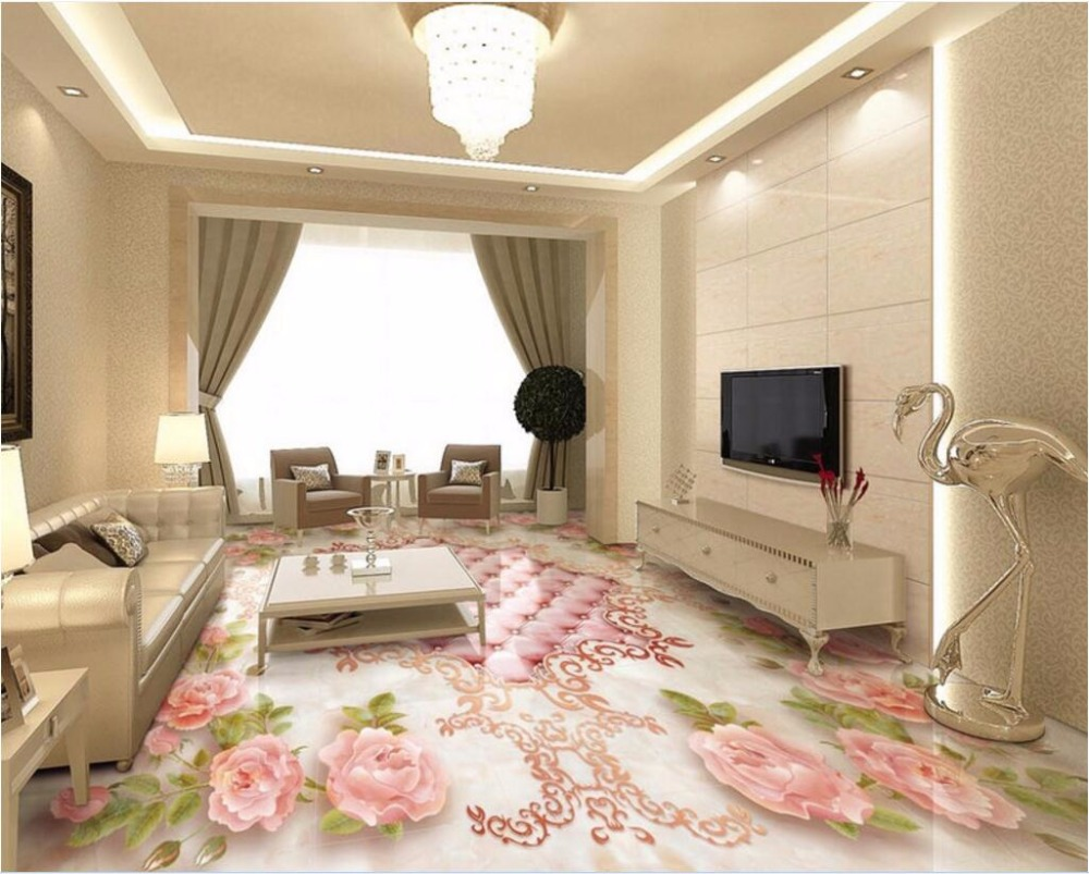 Custom mural 3d flooring European rose soft parquet room decor painting pvc self adhesive picture 3d wall murals wallpaper custom mural 3d flooring picture pvc self adhesive european style marble texture parquet decor painting 3d wall murals wallpaper