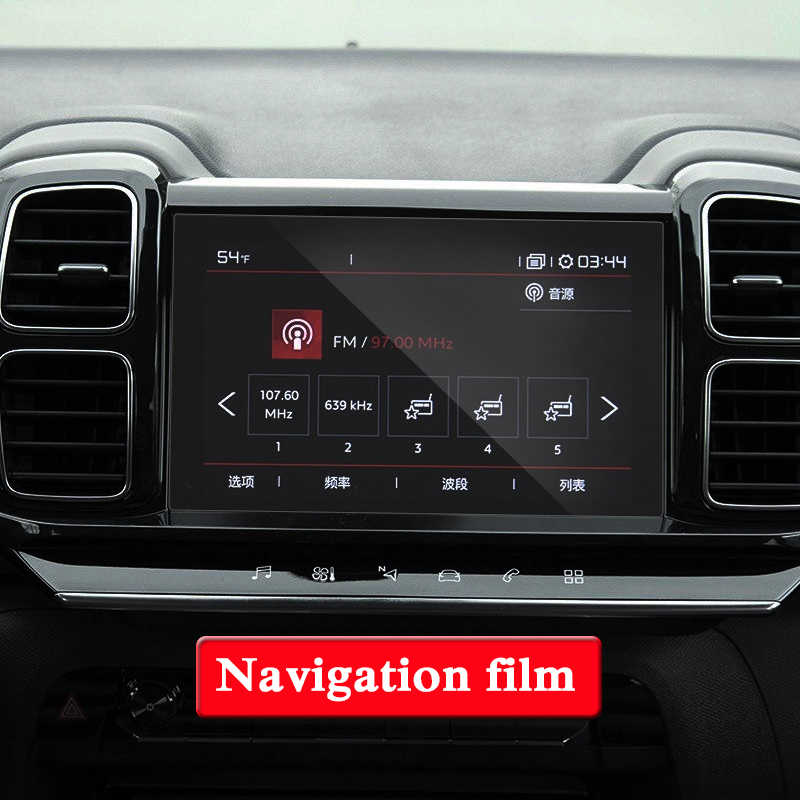 GPS Navigation Screen Steel Glass Film For Citroen C5 Aircross 2018 2019  TPU Dashboard Display Screen Film Car Sticker Accessory