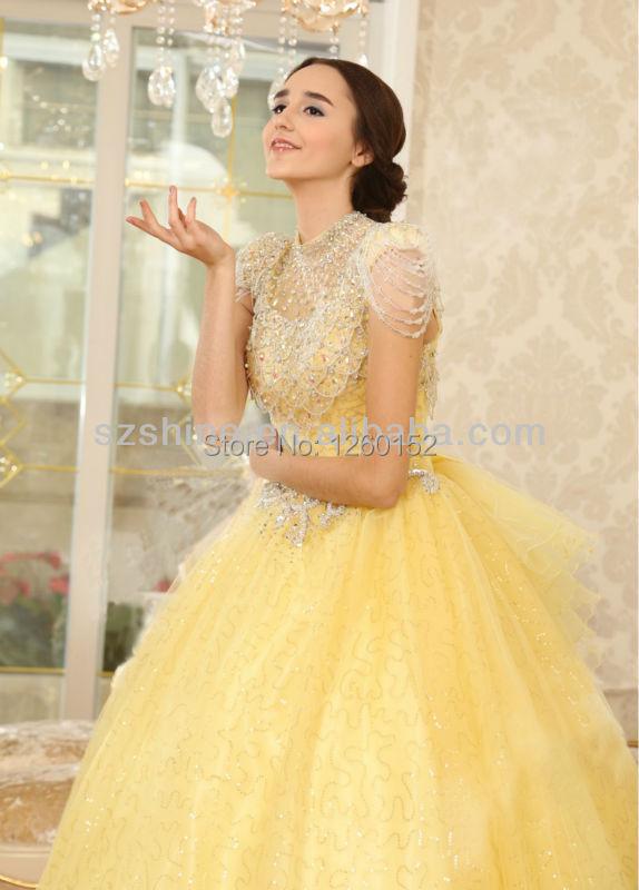 Yellow Wedding Gown Fashion Dresses