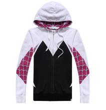 Hoodies Sweatshirts Cosplay Spider-Man Spider Gwen Outfit Unisex Coat