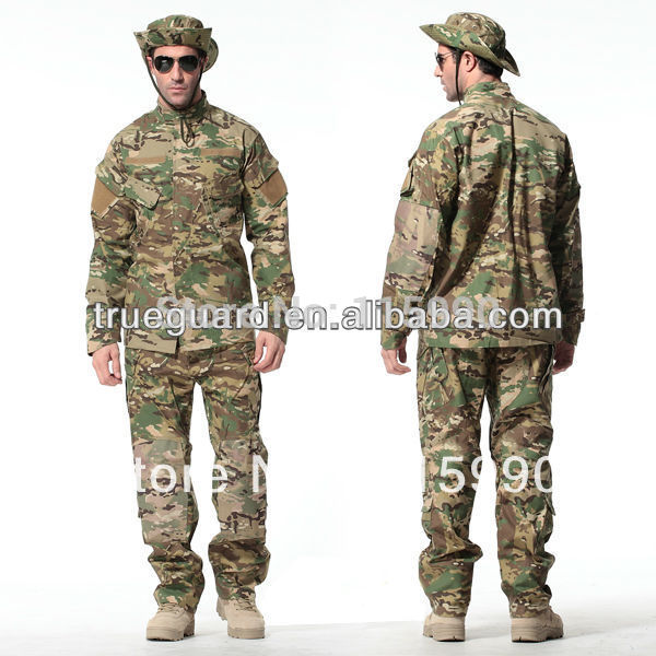 US Army Multicam CP Camouflage Combat Apparel  65/35 P/C Rip-stop BDU Uniforms ACU US Military Uniform Set