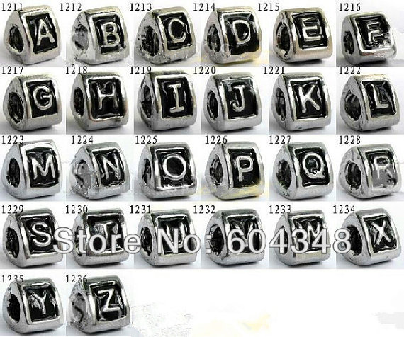 charms pandora lettere alfabeto