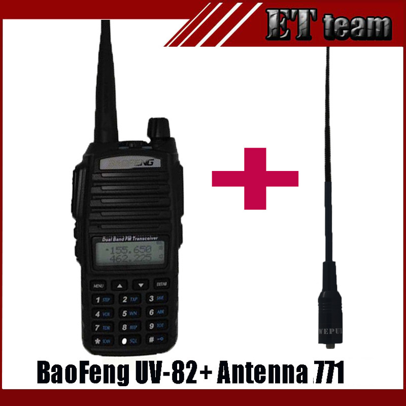 imágenes para Nueva Portátil RadioBaofeng UV-82 walkie talkie uv 82 CB Radioaficionados UV82 Transceptor de radio de Dos vías con suaves Femeninos antena 771
