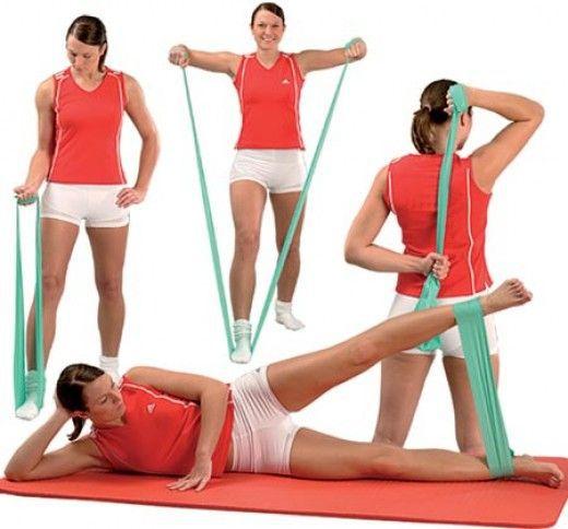 2m Yoga Rubber Pilates Stretch Otpornost Vježba Fitness Band Trening - Fitness i bodybuilding - Foto 4